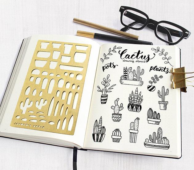 Bullet Journal Stencil - Cactus
