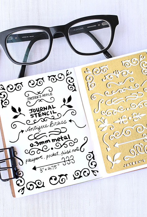 Bullet Journal Stencil - Ornaments (Small)