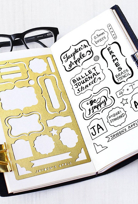Bullet Journal Stencil - Frames