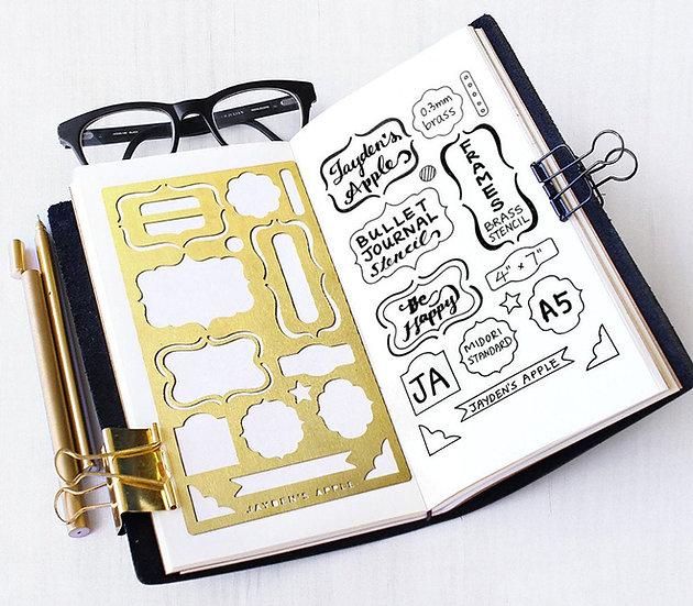 Bullet Journal Stencil - Frames
