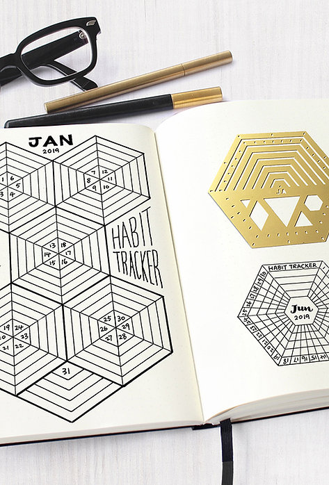 Bullet Journal / Planner Stencil -Hexagon