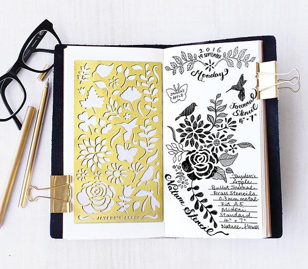 Bullet Journal Stencil - Nature