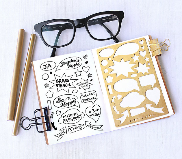 Bullet Journal / Planner Stencil - Bubbles (Small)