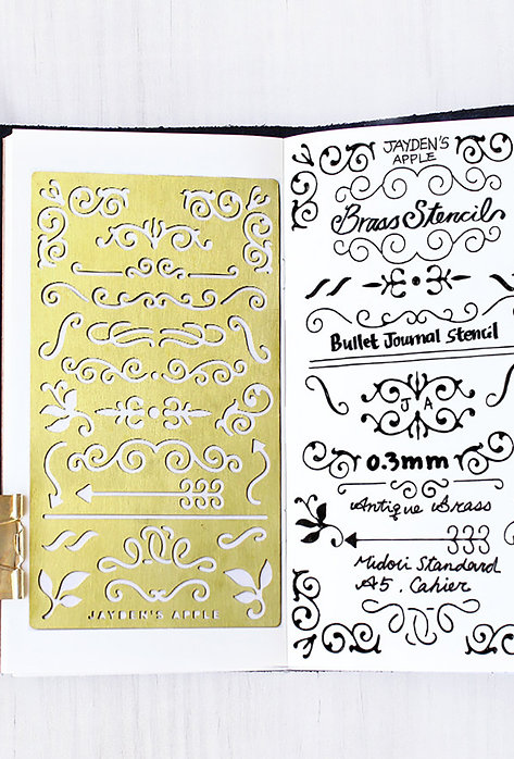 Bullet Journal / Planner Stencil - Ornaments