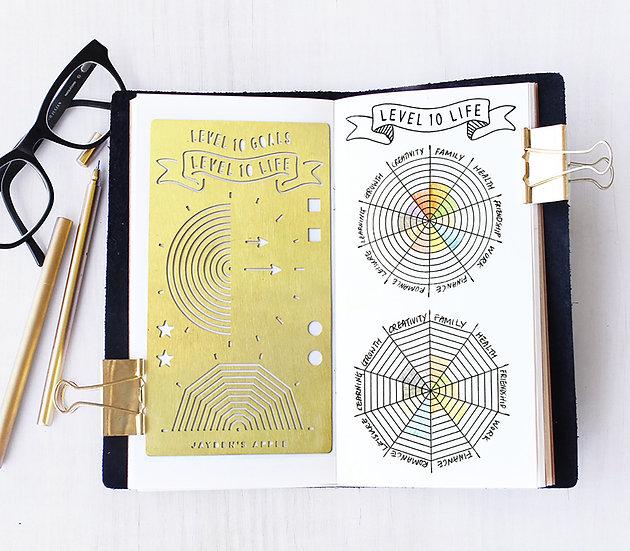 Bullet Journal Stencil - Level 10 Life