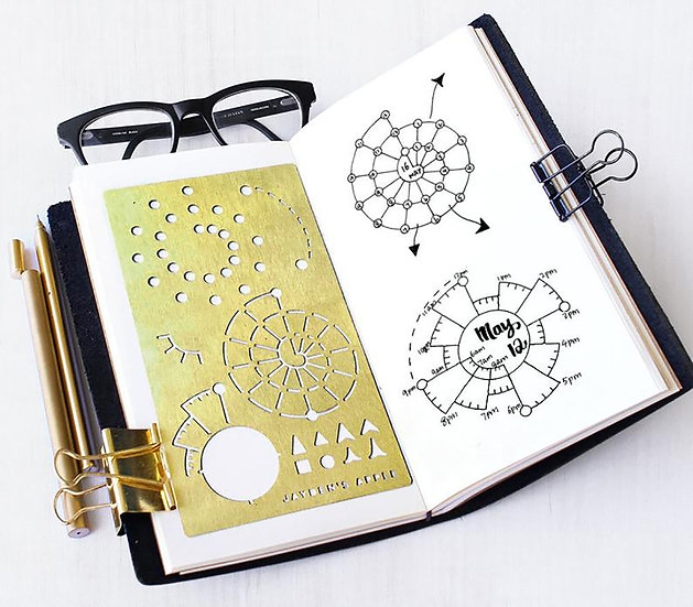 Bullet Journal Stencil - Spiraldex/Chronodex