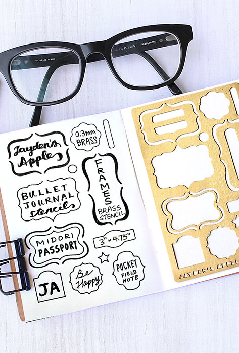Bullet Journal Stencil - Frames (Small)
