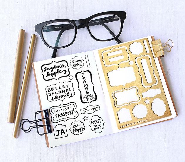 Bullet Journal Stencil - Frames (Small)