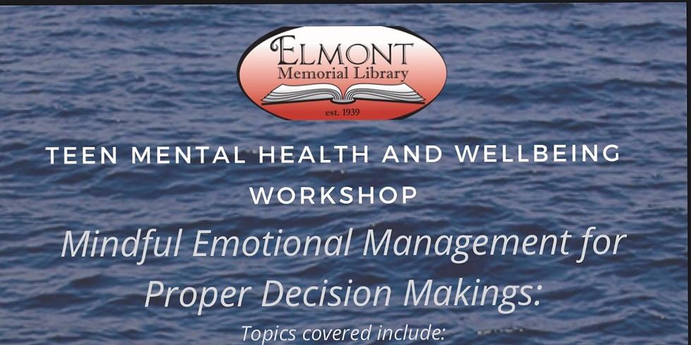 Teen Mental health and Wellbeing Workshop