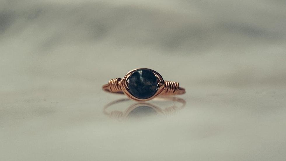 Ring HOSHI - Blue goldstone