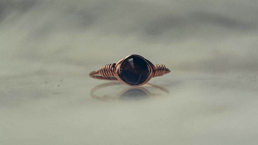 Ring HOSHI - Tijgeroog