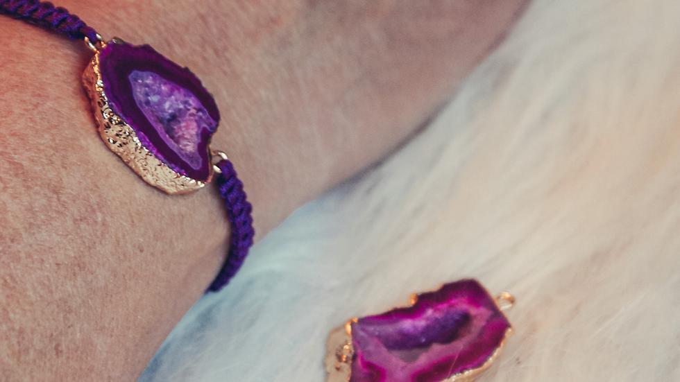 Armband AKEMI - Roze agaat