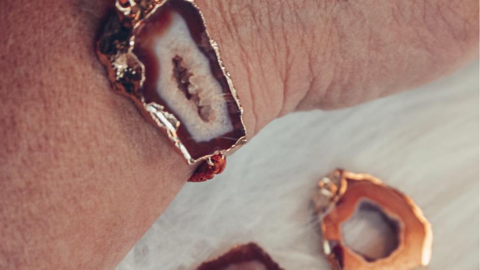 Armband AKEMI - Oranje agaat