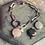 Thumbnail: Armband EIKO - RVS + edelsteen (zilver)