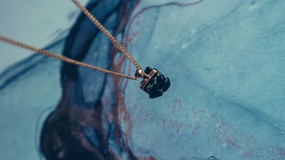 Ketting CHIE - Obsidiaan