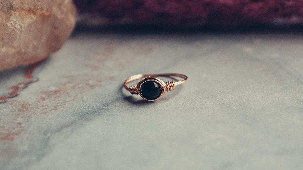 Ring HOSHI - Zwarte jade
