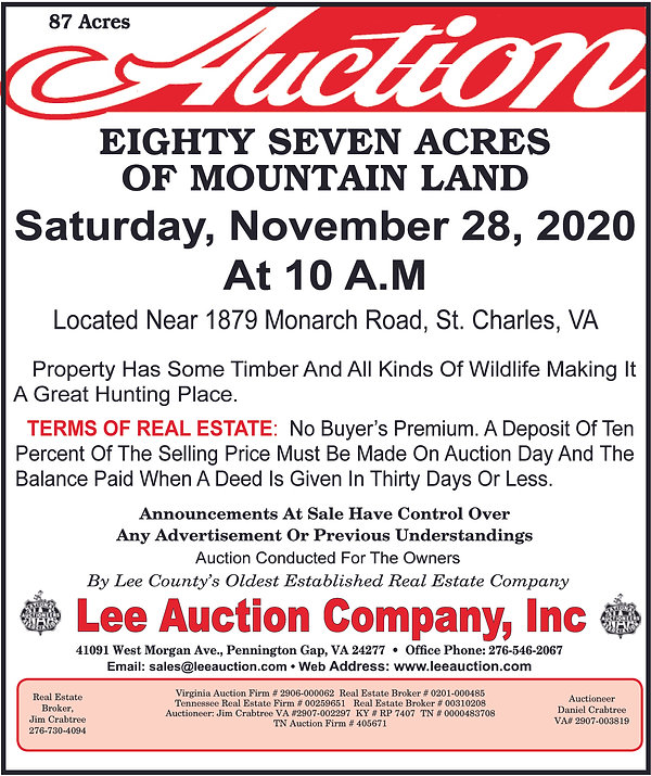 Lee Auction 87 Acres of Mountain Land.jp