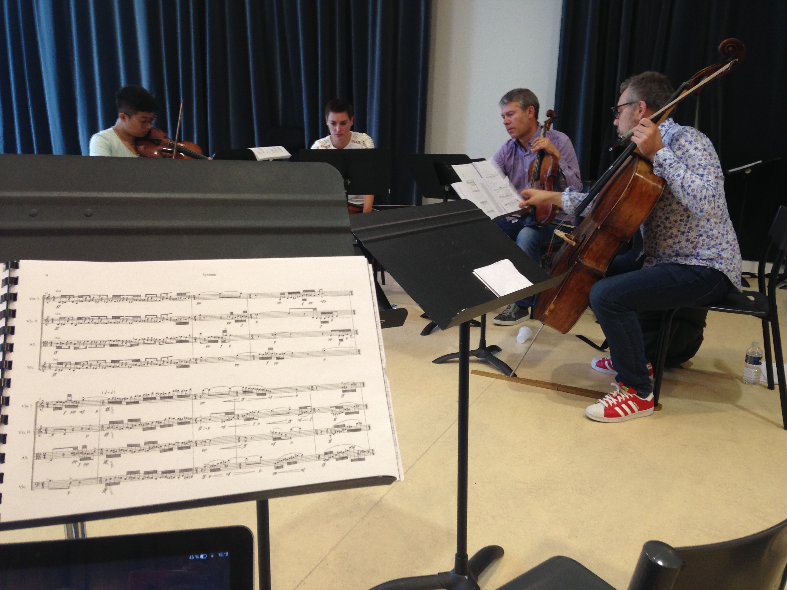 Rehearsal with Quatuor Diotima