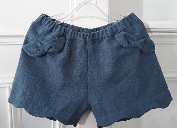 Short Inès bleu de Prusse