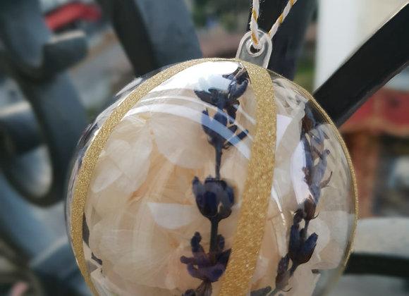 Boule Hortensia blanc & lavande