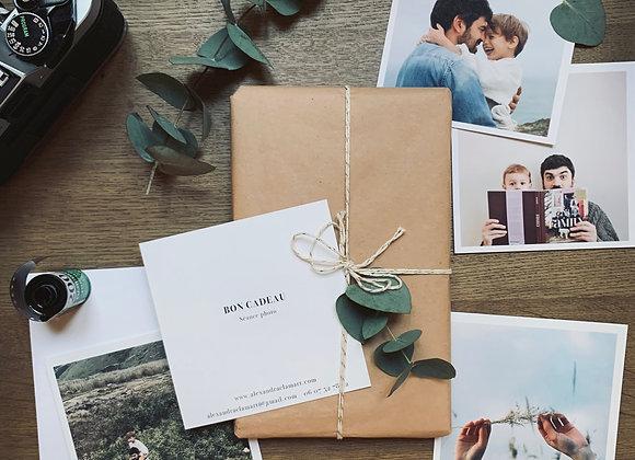 Bon cadeau N°3 / 50 photos retouchées + 5 tirages + 1 agrandissement