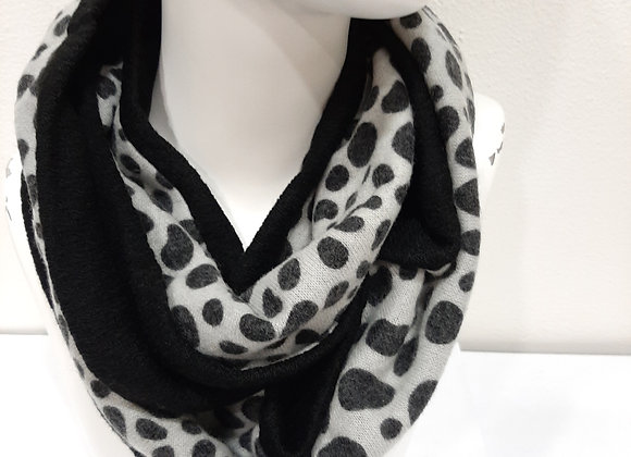 Snood léopard noir