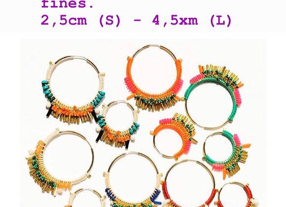Créoles Frida plusieurs coloris - taille S (2,5cm)