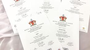 英国王立RADバレエ検定合格証書 2018