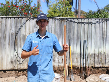 Bailey Gets A Job! Meet The Latest Landscaping Apprentice On The Block.