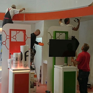 Exhibition stand install