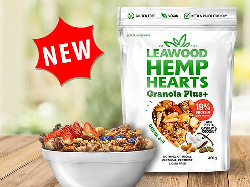 Leawood Hemp Hearts GRANOLA plus 450g X6