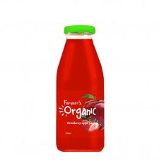 Farmers Organic - Apple & Strawberry Juice 350ml