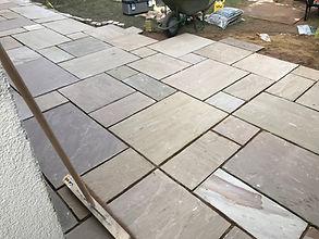 Indian stone patio job- September 2018-