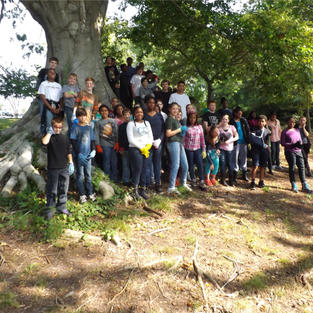 Students at Causey's Mill