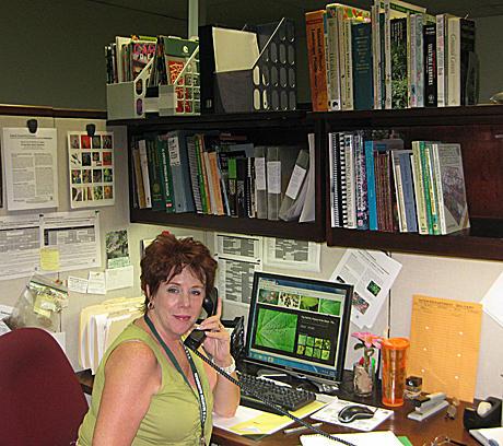 JoAnne Richards at the Help Desk
