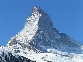 Zermatt, most famous mountain in Switzerland