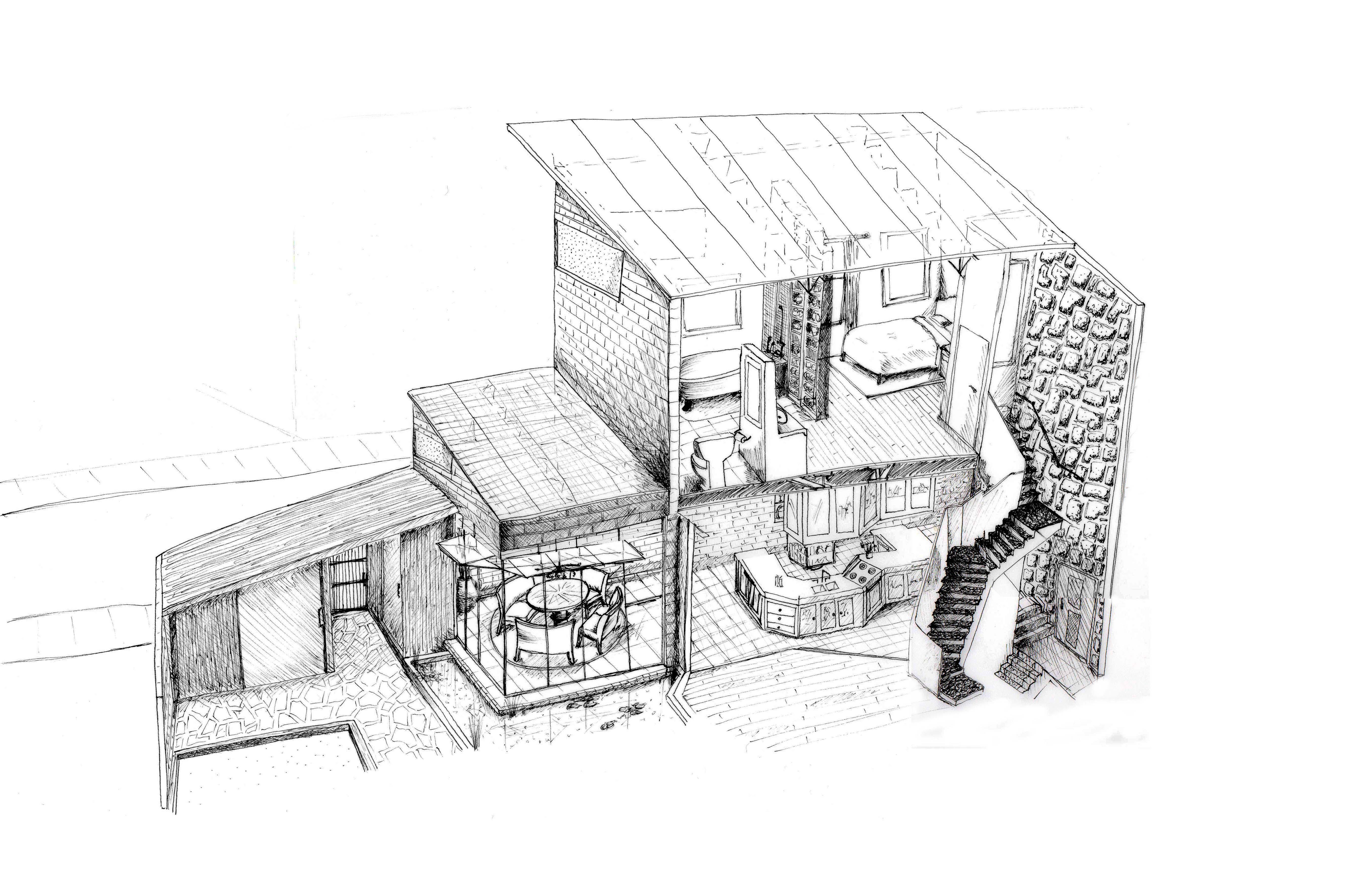 Drawing of interior