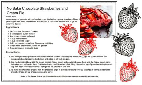 Chocolate Strawberries and Cream Pie Jul