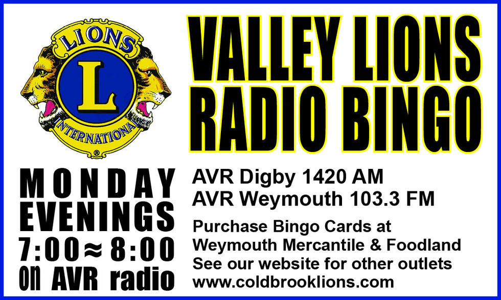 Valley Lions Radio Bingo