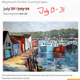 Jul Weymouth Library exhibition