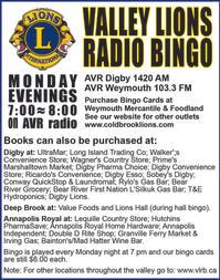 Valley Lions Radio Bingo