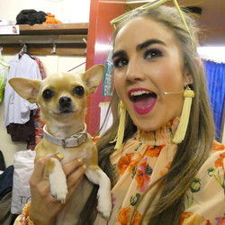 Margot and Bruiser backstage