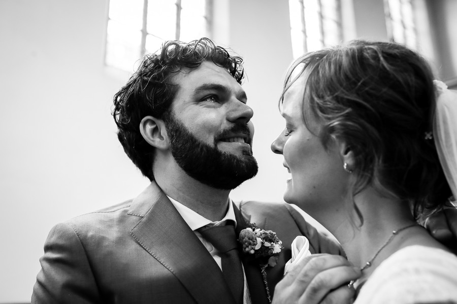 Emotionele bruidsfoto