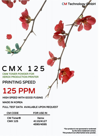 CMX 125 - Tonerpulver zur Wiederaufbereitung