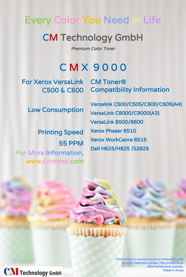 CMX 9000 - Tonerpulver zur Wiederaufbereitung