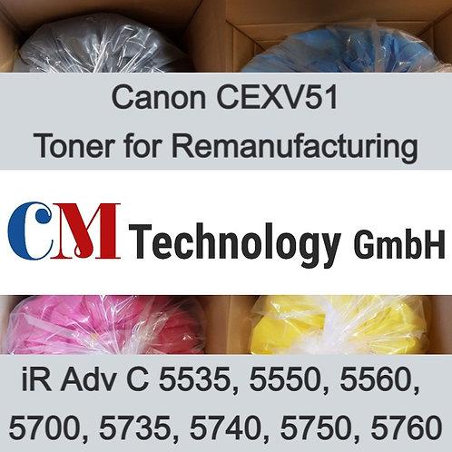 1 Kg, CEXV51/L Canon, Toner Powder for Remanufacturing, CMC 5560 (60 PPM)