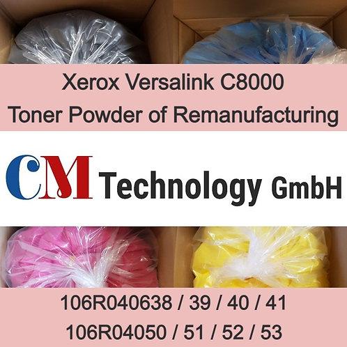 1 Kg, Versalink C8000 Xerox, Toner Powder for Remanufacturing, CMX 9000