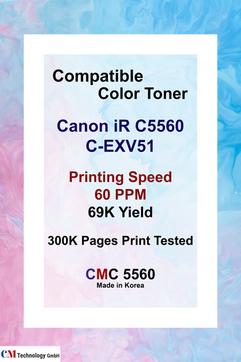 CMC 5560, Compatible Canon C5560 Toner Powder - Toner Powder for Remanufacturing