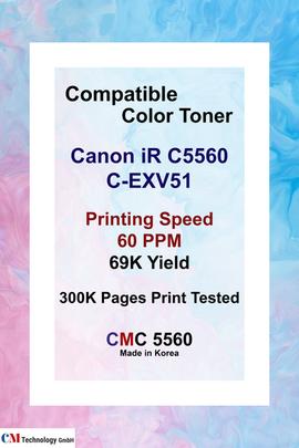 CMC 5560, Compatible Canon C5560 Toner Powder