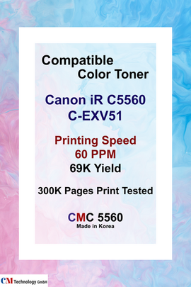 CMC 5560, Compatible Canon C5560 Toner Powder - Toner Powder for Remanufacturing